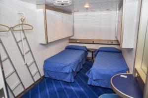 Auch während einer Tagüberfahrt kann man eine Kabine buchen.