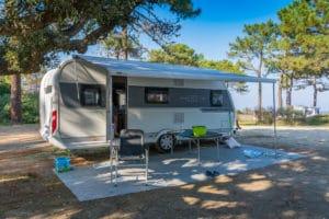 Unser Hobby de Luxe 540 Kmfe auf dem Camping San Damiano auf Korsika