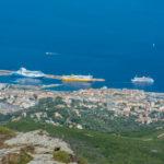 Blick von der Serra die Pigno auf Bastia