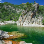 Baden im Solenzara-Fluss beim Camping U Rosumarinu