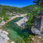 Baden im Solenzara-Fluss beim Camping U Ponte Grossu