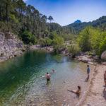 Baden im Solenzara-Fluss