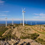 Windräder im Norden des Cap Corse